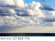 Купить «Scenery with sea and fluffy sky», фото № 27824116, снято 24 октября 2018 г. (c) PantherMedia / Фотобанк Лори