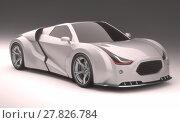 Купить «3D Concept Car», фото № 27826784, снято 22 апреля 2019 г. (c) PantherMedia / Фотобанк Лори