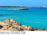 Купить «Beach Punta della Suina, Salento, Italy», фото № 27832724, снято 8 июня 2017 г. (c) Юрий Брыкайло / Фотобанк Лори