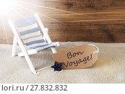 Купить «Summer Sunny Label, Bon Voyage Means Good Trip», фото № 27832832, снято 23 мая 2018 г. (c) PantherMedia / Фотобанк Лори