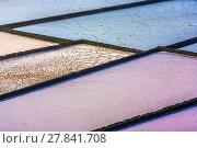 Купить «detail of salt basin in saline», фото № 27841708, снято 15 декабря 2018 г. (c) PantherMedia / Фотобанк Лори