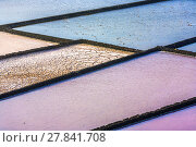 Купить «detail of salt basin in saline», фото № 27841708, снято 20 сентября 2018 г. (c) PantherMedia / Фотобанк Лори