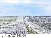 Купить «frozen fields in wintertime in Bavaria», фото № 27846064, снято 16 декабря 2018 г. (c) PantherMedia / Фотобанк Лори