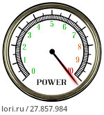 Купить «Power Meter», фото № 27857984, снято 19 января 2019 г. (c) PantherMedia / Фотобанк Лори
