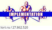 Купить «Implementation as a Competition Concept Illustration Art», фото № 27862520, снято 25 февраля 2018 г. (c) PantherMedia / Фотобанк Лори