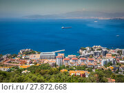 Купить «an aerial view of gibraltar,its marina and the mediterranean sea as seen from the rock of gibraltar», фото № 27872668, снято 24 февраля 2019 г. (c) PantherMedia / Фотобанк Лори