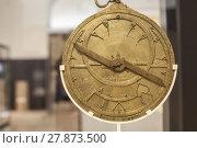 Купить «Antique brass astrolabe», фото № 27873500, снято 8 декабря 2019 г. (c) PantherMedia / Фотобанк Лори