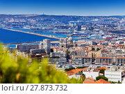 Купить «View of Marseille with Saint Mary Major cathedral», фото № 27873732, снято 18 июля 2017 г. (c) Сергей Новиков / Фотобанк Лори