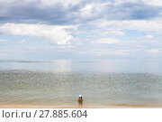 Купить «girl in water of Sea of Azov», фото № 27885604, снято 20 июня 2019 г. (c) PantherMedia / Фотобанк Лори