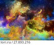 Купить «Elements of Space Nebula», фото № 27893216, снято 20 июля 2018 г. (c) PantherMedia / Фотобанк Лори