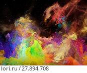 Купить «Virtual Space Nebula», фото № 27894708, снято 20 июля 2018 г. (c) PantherMedia / Фотобанк Лори