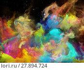 Купить «Emergence of Space Nebula», фото № 27894724, снято 20 июля 2018 г. (c) PantherMedia / Фотобанк Лори