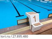 Купить «lane one outdoor swimming competitions», фото № 27895480, снято 20 октября 2019 г. (c) PantherMedia / Фотобанк Лори