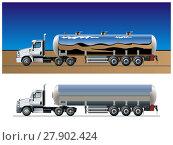 Купить «Vector tanker truck template», иллюстрация № 27902424 (c) Александр Володин / Фотобанк Лори