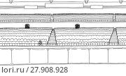 Купить «Outline drawing of one fan at empty stadium», иллюстрация № 27908928 (c) PantherMedia / Фотобанк Лори