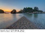 Купить «the isola bella in sicily taormina area before sunrise», фото № 27914252, снято 21 октября 2018 г. (c) PantherMedia / Фотобанк Лори