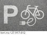 Купить «parking e-bike ebike e bike pedelec park electro bicycle wheel city environment environmentally friendly», фото № 27917612, снято 23 мая 2018 г. (c) PantherMedia / Фотобанк Лори