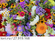 Купить «colorful bouquet with summer flowers», фото № 27919168, снято 22 февраля 2019 г. (c) PantherMedia / Фотобанк Лори