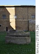 Купить «sarcophagus in the byzantine church in tuskania,italy», фото № 27919296, снято 21 июля 2019 г. (c) PantherMedia / Фотобанк Лори
