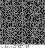 Купить «Interlace Curved Lines Seamless Pattern», фото № 27927424, снято 19 марта 2019 г. (c) PantherMedia / Фотобанк Лори
