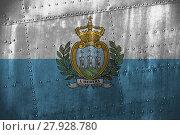 Купить «metal texutre or background with san marino flag», фото № 27928780, снято 17 июня 2019 г. (c) PantherMedia / Фотобанк Лори