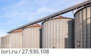 Купить «Storage facility cereals, and biogas production», фото № 27930108, снято 16 июля 2019 г. (c) PantherMedia / Фотобанк Лори