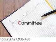 Купить «Committee text concept on notebook», фото № 27936480, снято 17 июня 2019 г. (c) PantherMedia / Фотобанк Лори