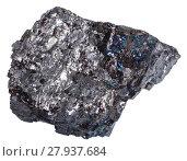 Купить «stone of black coal (anthracite) isolated», фото № 27937684, снято 18 января 2019 г. (c) PantherMedia / Фотобанк Лори