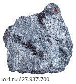 Купить «antimony ore specimen (Stibnite, antimonite)», фото № 27937700, снято 15 августа 2019 г. (c) PantherMedia / Фотобанк Лори