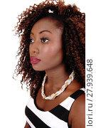 Купить «Portrait of young black woman.», фото № 27939648, снято 25 апреля 2019 г. (c) PantherMedia / Фотобанк Лори