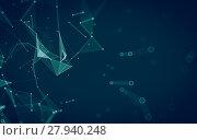 Купить «Abstract polygonal space low poly dark background, 3d rendering», фото № 27940248, снято 25 апреля 2019 г. (c) PantherMedia / Фотобанк Лори