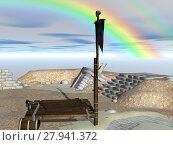 Купить «ruins sail skull raft pirateninsel», фото № 27941372, снято 20 апреля 2018 г. (c) PantherMedia / Фотобанк Лори