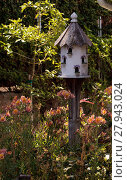 Купить «Fancy white birdhouse », фото № 27943024, снято 20 января 2019 г. (c) PantherMedia / Фотобанк Лори