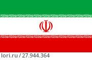 Купить «Flag of Iran in correct proportions and colors», иллюстрация № 27944364 (c) PantherMedia / Фотобанк Лори