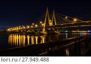 Купить «Night cityscape of the bridge across the river in Kazan», фото № 27949488, снято 21 марта 2019 г. (c) PantherMedia / Фотобанк Лори