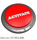 Купить «Activate button isolated over white», фото № 27952440, снято 18 марта 2018 г. (c) PantherMedia / Фотобанк Лори