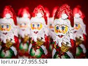 Купить «Santa Claus chocolate figure», фото № 27955524, снято 23 марта 2019 г. (c) PantherMedia / Фотобанк Лори