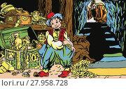 Купить «An Illustration on the motive a fairy tale Aladdin and His Wonderful Lamp.», иллюстрация № 27958728 (c) PantherMedia / Фотобанк Лори