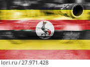 Купить «military strength theme,motion blur tank with uganda flag», фото № 27971428, снято 17 января 2019 г. (c) PantherMedia / Фотобанк Лори