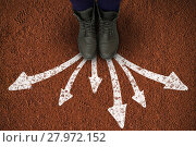 Composite image of cropped image of person wearing shoes . Стоковое фото, агентство Wavebreak Media / Фотобанк Лори