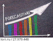 Купить «FORECASTING written over colorful graph and rising arrow», фото № 27979448, снято 21 июля 2018 г. (c) PantherMedia / Фотобанк Лори