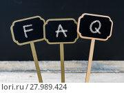 Купить «Business message FAQ as Frequently Asked Questions», фото № 27989424, снято 25 июня 2019 г. (c) PantherMedia / Фотобанк Лори