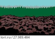 Купить «Rocky slag heap mine background», фото № 27989484, снято 21 марта 2019 г. (c) PantherMedia / Фотобанк Лори