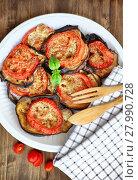 Купить «Baked eggplant with tomatoes», фото № 27990728, снято 20 января 2019 г. (c) PantherMedia / Фотобанк Лори