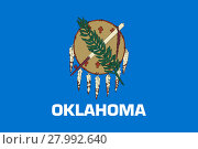 Купить «Flag of Oklahoma correct size color illustration», фото № 27992640, снято 19 октября 2018 г. (c) PantherMedia / Фотобанк Лори