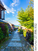 Купить «Morning Nakasendo Trail Magome Blue Sky V», фото № 27996932, снято 22 сентября 2018 г. (c) PantherMedia / Фотобанк Лори