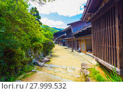 Купить «Traditional Japanese Wooden Rural Houses Tsumago H», фото № 27999532, снято 22 сентября 2018 г. (c) PantherMedia / Фотобанк Лори