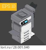 Купить «Copier printer isometric vector illustration», фото № 28001040, снято 26 мая 2018 г. (c) PantherMedia / Фотобанк Лори