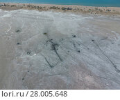 Купить «Top view of the salt lake mud sources. External similarity with craters. Mud healing springs», фото № 28005648, снято 22 января 2019 г. (c) PantherMedia / Фотобанк Лори