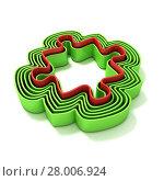 Купить «Concentric jigsaw puzzle outlined pieces», фото № 28006924, снято 18 октября 2018 г. (c) PantherMedia / Фотобанк Лори
